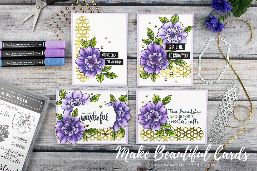 stampin' up  to a wild rose card ideas  make beautiful